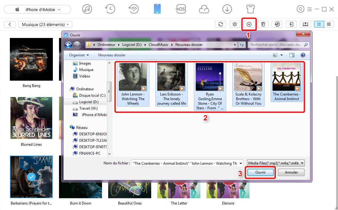 Ajouter les musiques sur iPhone 7 avec facilité – étape 4
