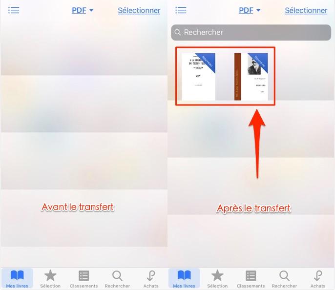Transférer les fichiers PDF sur iPhone - étape 4