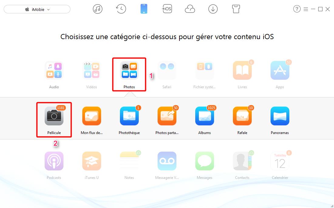 Transférer les photos iPad vers PC via AnyTrans - étape 1