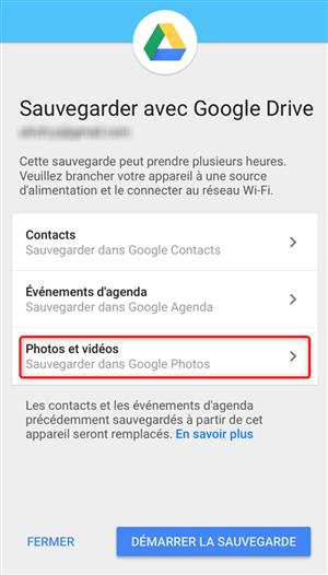 Accès à Google Drive pour commencer l'enregistrement - étape 1