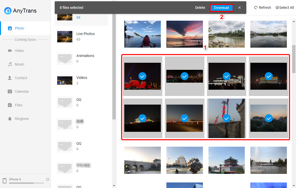 Transférer les photos iPhone vers Mac sans câble