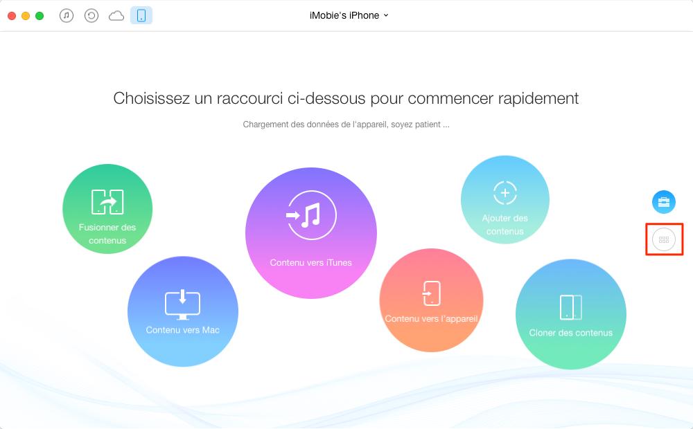 Transférer les photos iPhone 8/7/6/5 vers Mac sans iTunes – étape 1