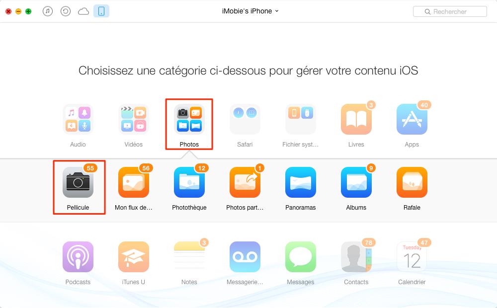 Comment transférer les photos iPhone 5/6/7 vers Mac rapidement – étape 2