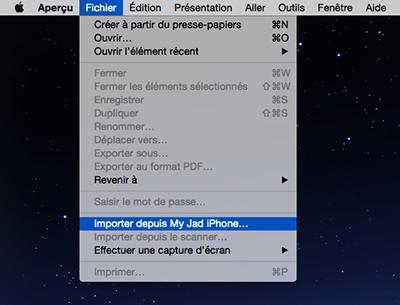 Comment importer les photos vers Mac avec Aperçu - étape 1