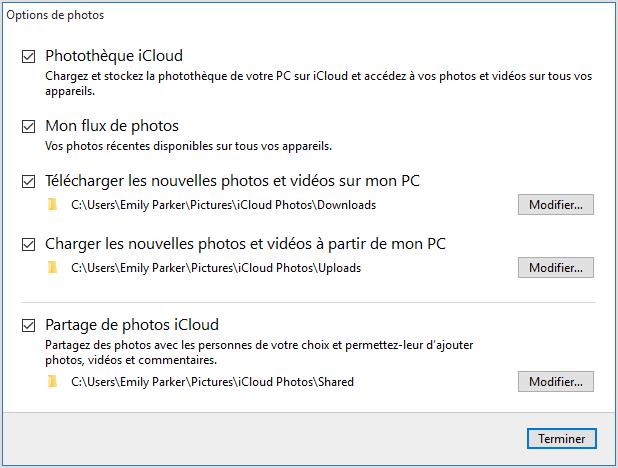 Transférer photos d'iPhone sur ordinateur via iCloud