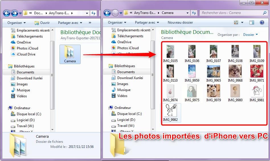 Comment transférer directement les photos d'iPhone vers PC
