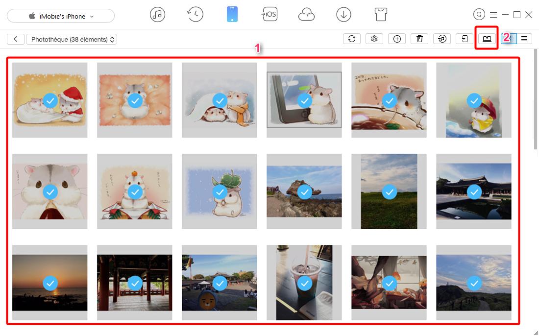 Transférer les photos à partir d'un iPhone vers PC – étape 2