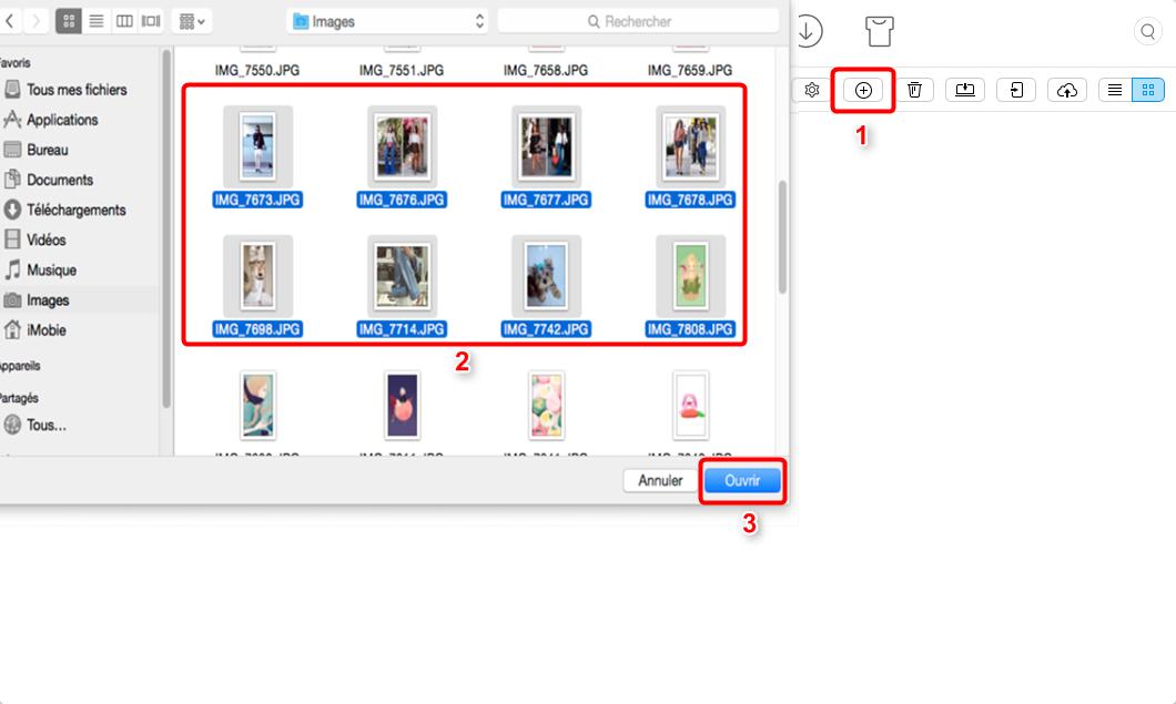 Ajouter photos sur iPad depuis Mac – étape 3