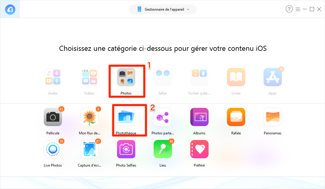 Transférer les photos PC vers iPhone avec facilité - étape 2