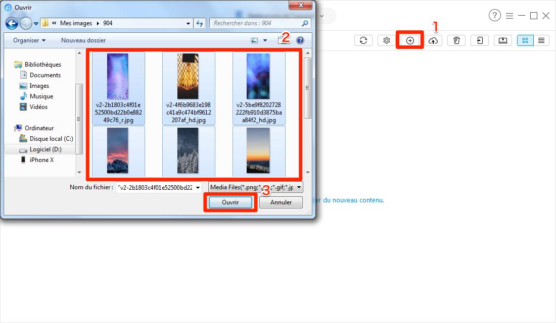 Comment transférer les photos PC vers iPhone via AnyTrans pour iOS - étape 3
