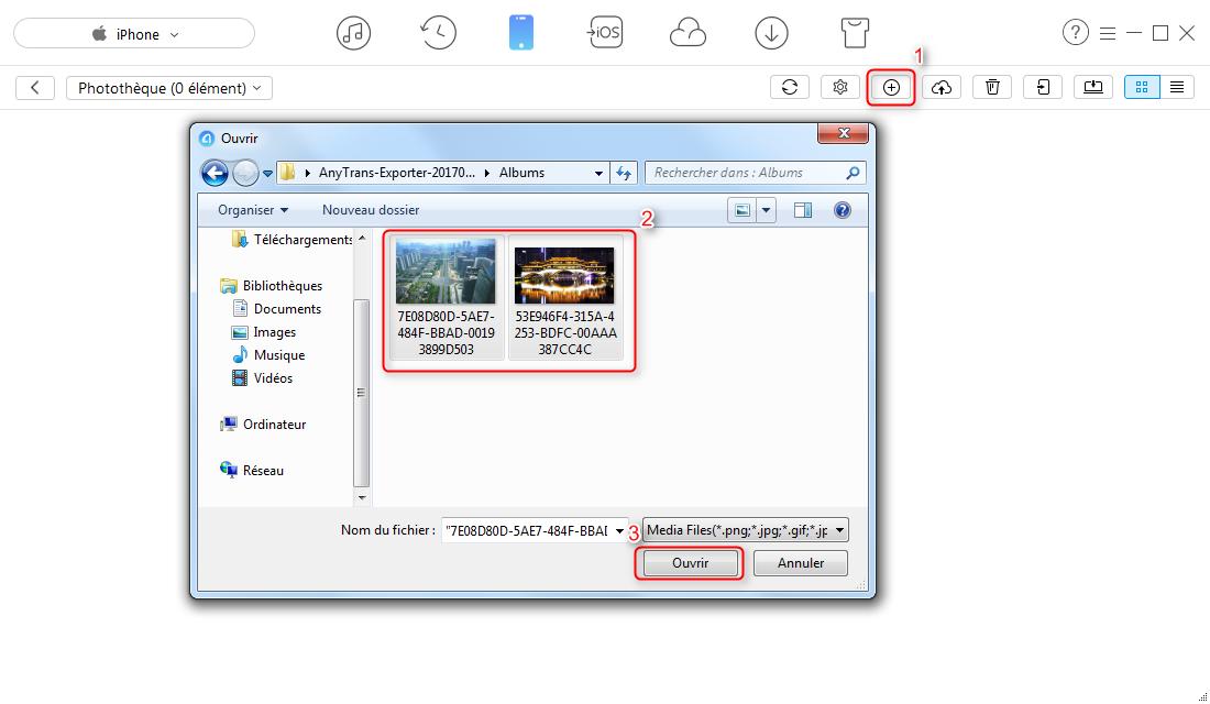 Comment transférer les photos PC vers iPhone via AnyTrans - étape 3