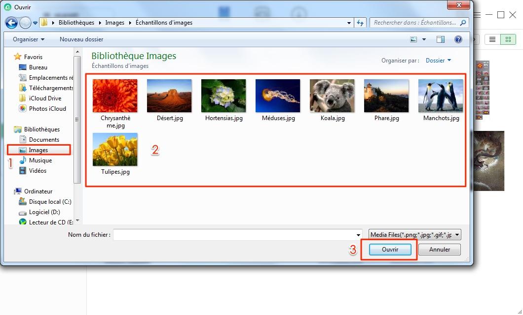 Mettre des photos sur Samsung depuis PC - étape 3