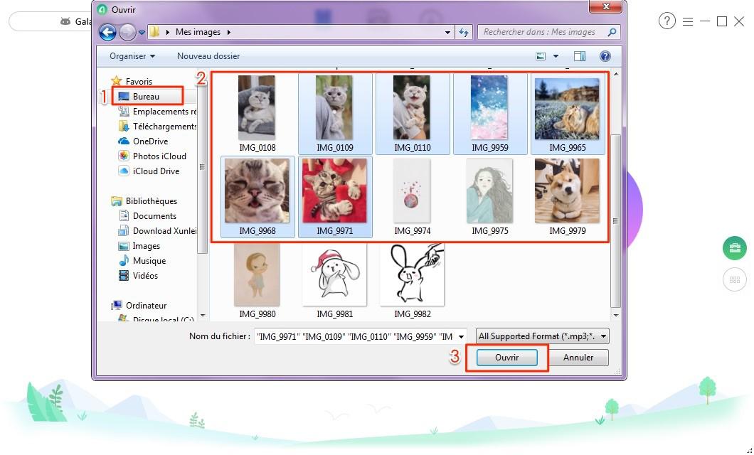 Importer les photos de PC vers tablette Samsung en 1 clic – étape 2