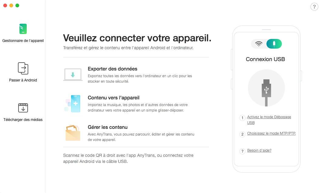 Transférer les photos Android vers iPhone - étape 1