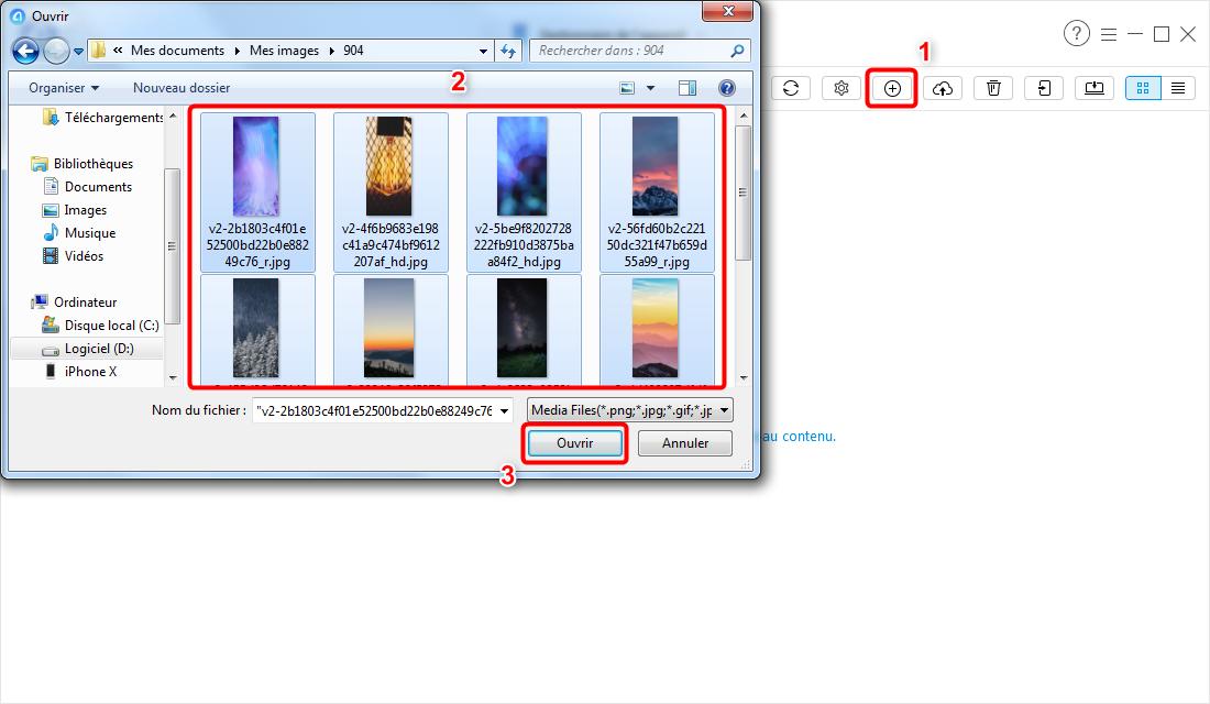 Comment transférer les photos PC/Mac vers iPhone sans iTunes – étape 3