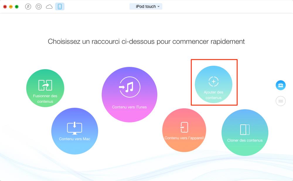 Comment transférer les photos du Mac à l'iPod touch – étape 1