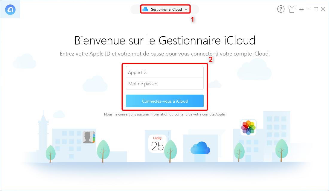 Envoyerdes photos iCloud sur un disque dur externe - Étape 1
