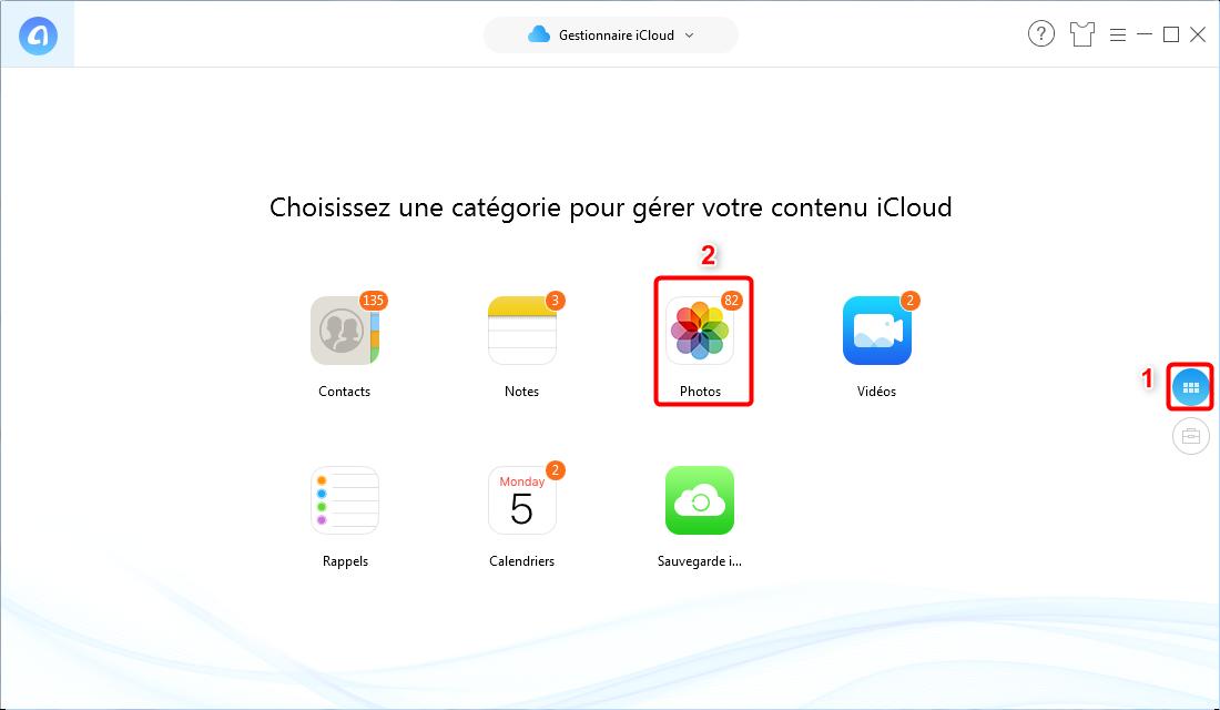 Transférer des photos iCloud vers un disque dur externe - Étape 2