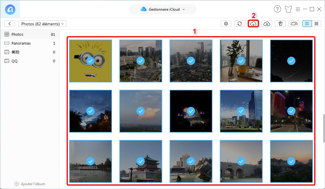 Déplacer des photos iCloud vers un disque dur externe - Étape 4