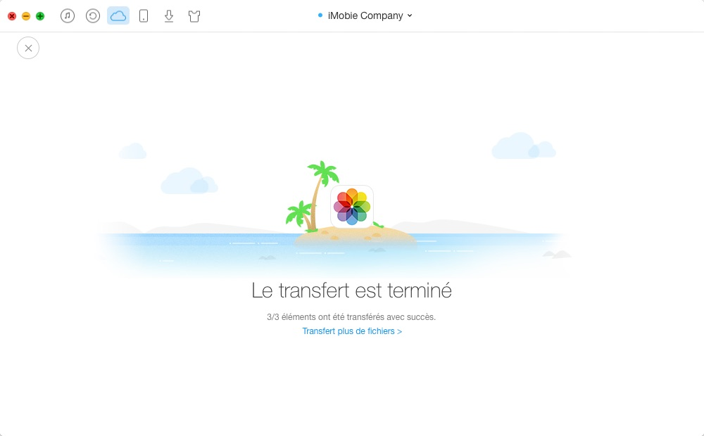 Transfert des photos iCloud vers iCloud – étape 4
