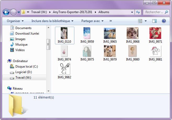 Transférer des photos iPad à un USB Flash Drive avec AnyTrans – étape 4