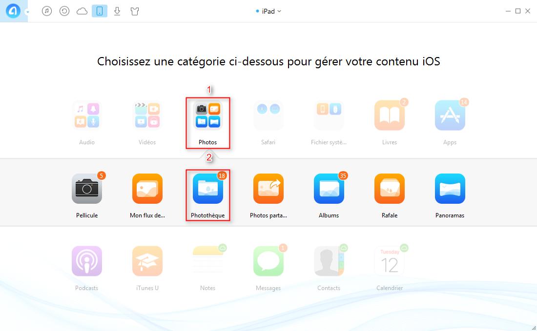 Comment transférer des photos iPad à iPad Pro directement – étape 2