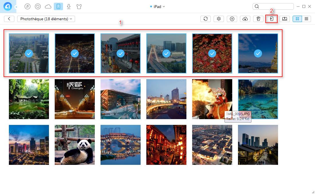 Comment transférer des photos iPad à iPad directement – étape 3