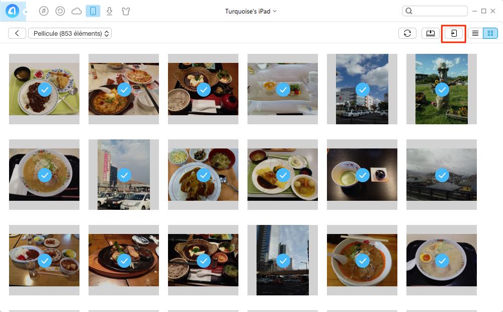 Comment transférer les photos iPad vers iPhone 7 – étape 3