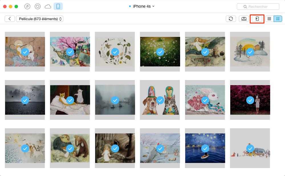 Moyen facile de transférer des photos de l'iPhone 4s à l'iPhone 6 - étape 3