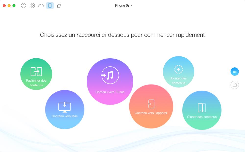 Exporter des photos de l'iPhone 6/6s sur Mac - étape 1