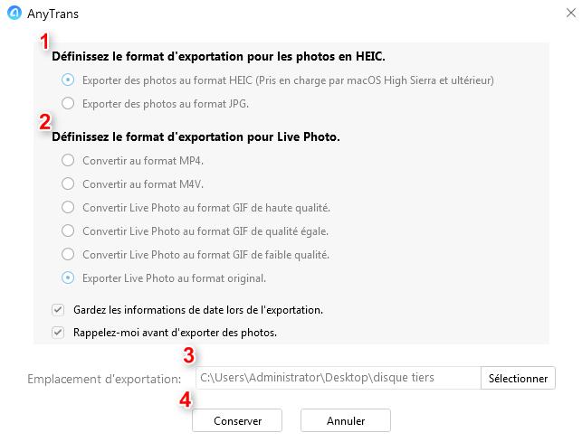 Exporter les photos iPhone vers le disque dur externe