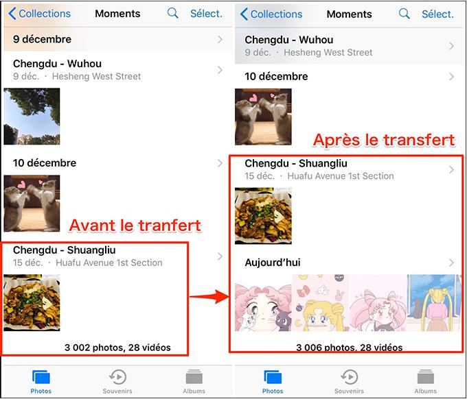 Transférer des photos de l'iPhone 6 vers l'iPhone 8/X - étape 4