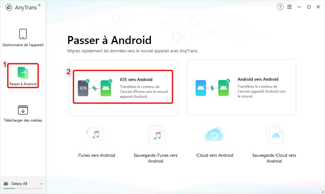Copier les photos iPhone vers Samsung - étape 2