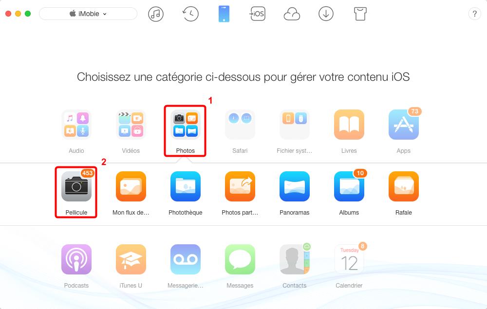 Envoyerles photos iPhone X vers Mac – étape 2