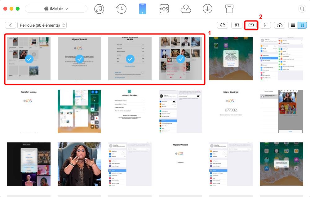 Transférer les photos iPhone X vers Mac – étape 3