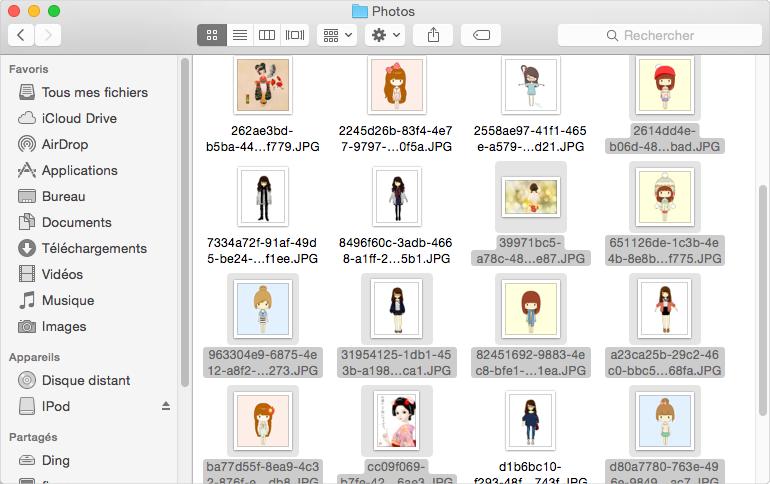 Comment copier des photos de l'iPod vers Mac - étape 2