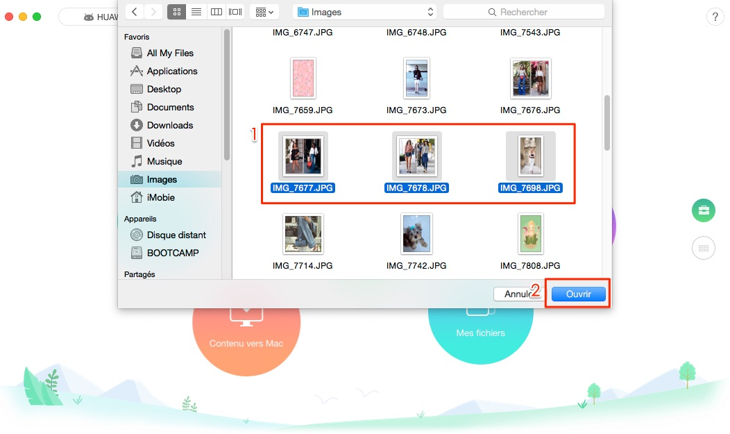 Transfert de photos Mac vers Android - étape 2
