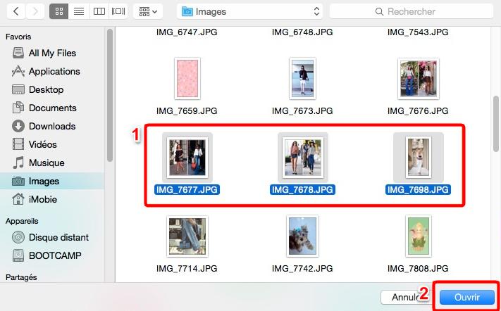 Comment envoyer les photos Mac vers Android - étape 3