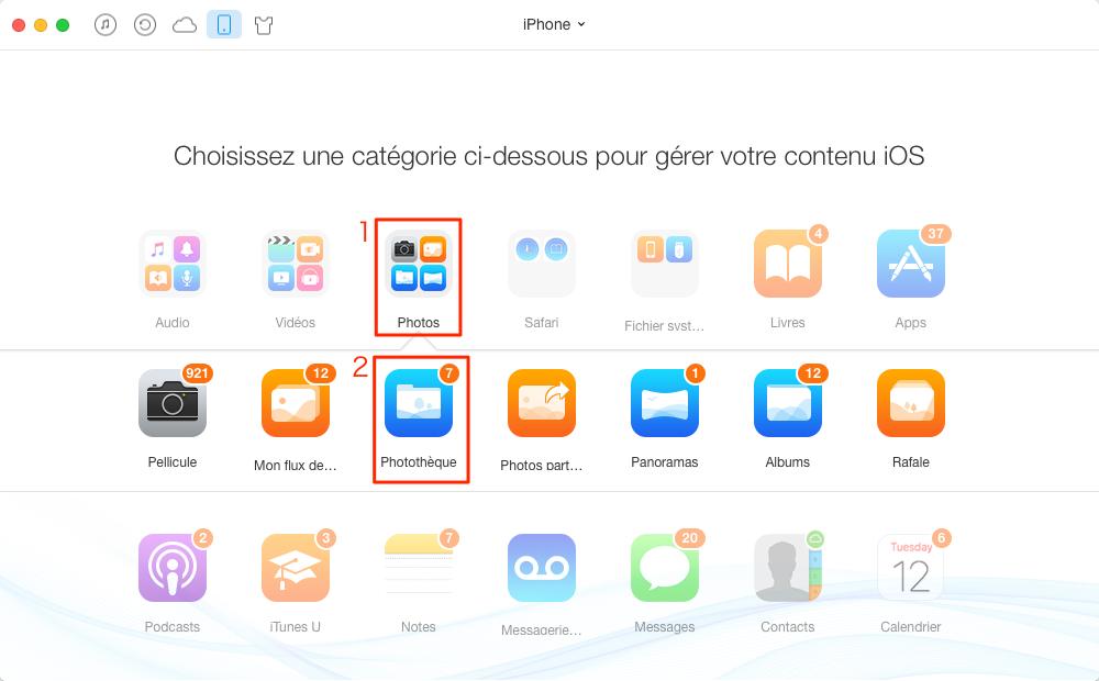 Comment transférer des photos Mac vers l'iPhone sans iTunes – étape 2