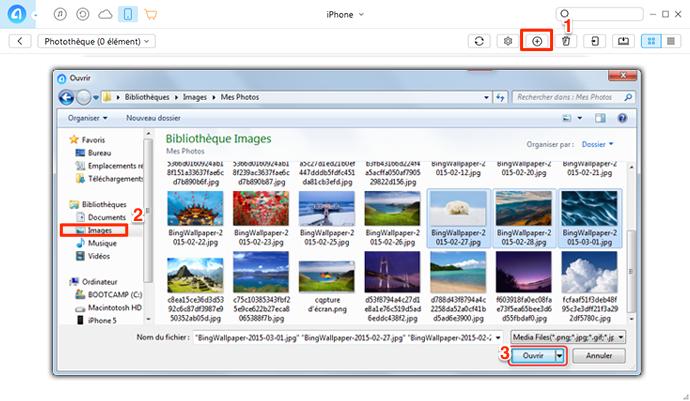Comment transférer les photos de PC vers iPhone - étape 3