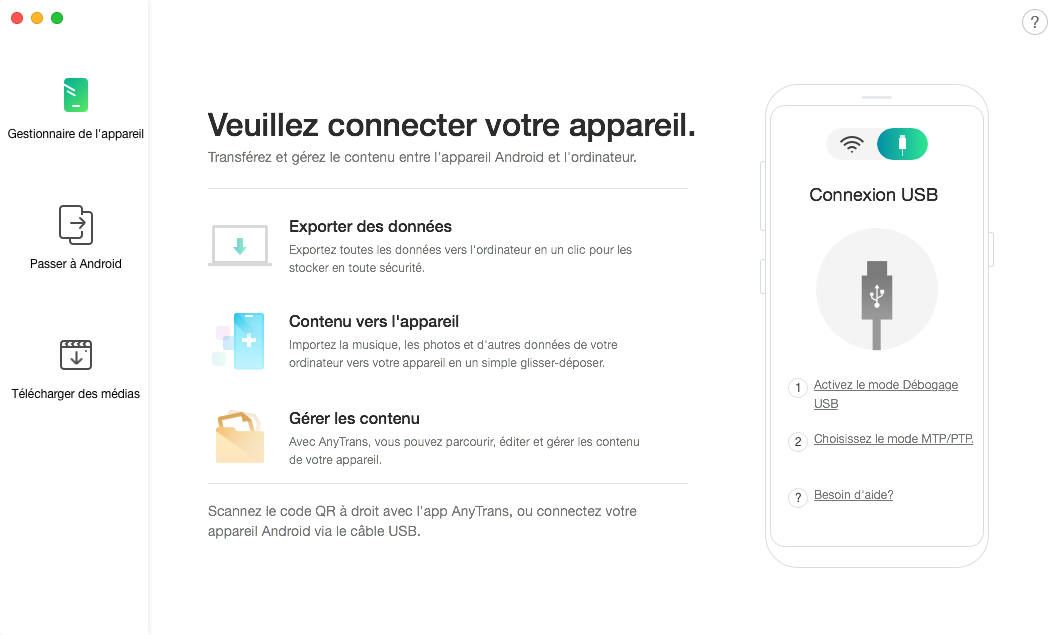 Transférer les photos Samsung vers Mac - étape 1