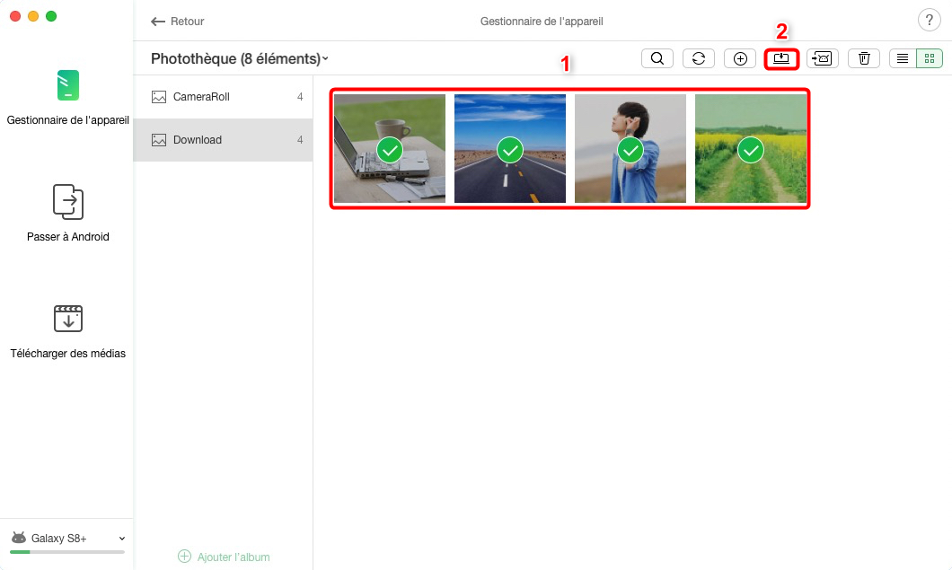 Comment mettre photos Samsung sur Mac – étape 3