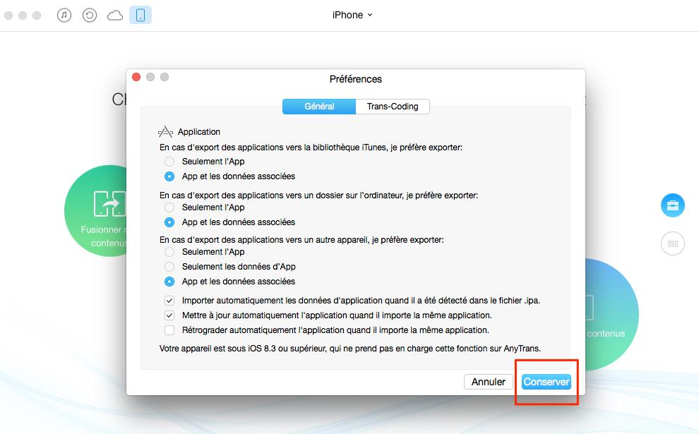 Comment transférer les apps de l'iPhone à un autre iPhone iPad - étape 2