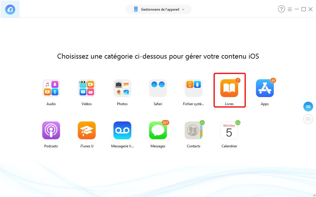 Comment transférer des fichiers PDF sur iPad - étape 2