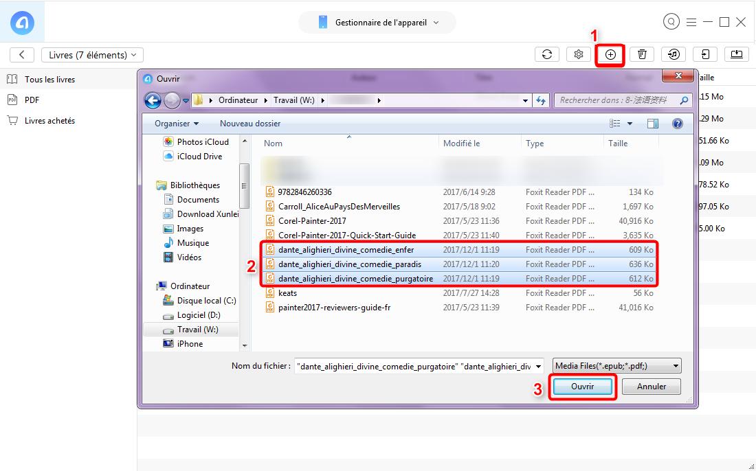 Transférer rapidement les fichiers PDF vers iPad – étape 3