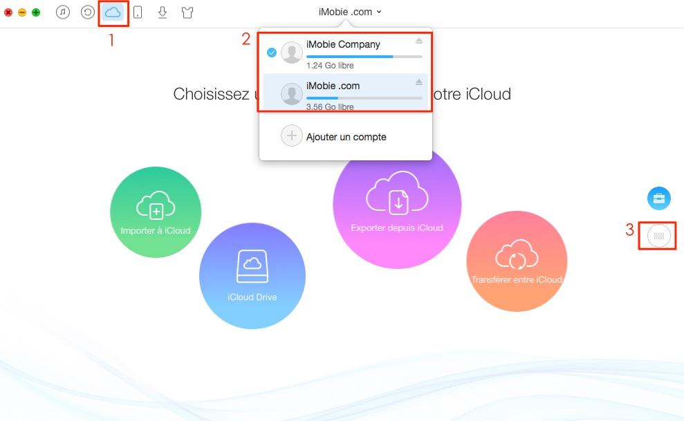 Transférer les rappels entre iCloud – étape 1