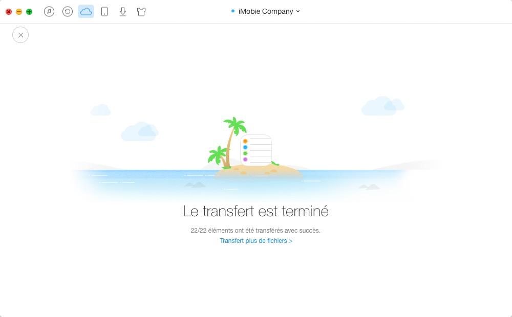 Transfert des rappels d'iCloud vers iCloud – étape 4