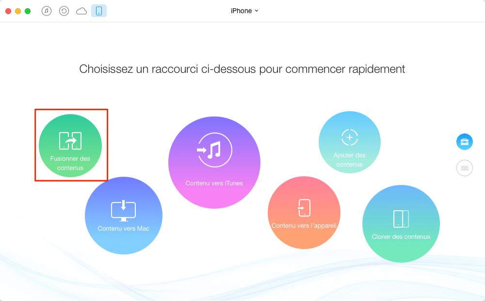 Transfert de Messages de l'iPhone à iPhone SE avec AnyTrans - étape 1