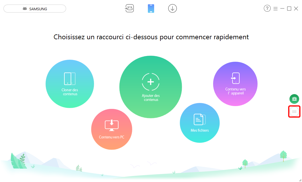 Extraire SMS depuis Android vers PC – étape 1
