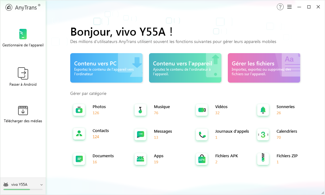Comment envoyer SMS iPhone vers Android – étape 1